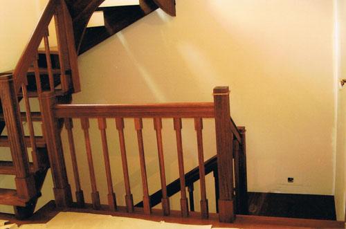 schody drewniane + balustrada