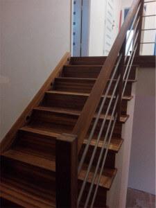 Schody z Drewna - Modrzew